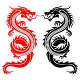 Dragón que mira el lado Imagen de archivo libre de regalías