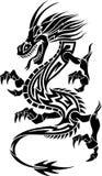 Dragón tribal del tatuaje Imagenes de archivo