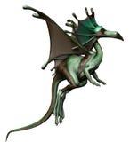 Dragón verde del cuento de hadas Foto de archivo