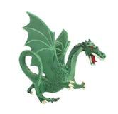 Dragón verde modelo aislado. Imágenes de archivo libres de regalías