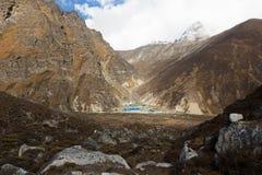 Dragnag lodges mountain village, Nepal. Stock Photography