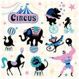 Dragning för cirkusdjur Arkivbilder