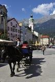 Dragning på Innsbrucks fyrkant Royaltyfri Bild