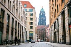 Dragningar av Dresden Turist- ställen Vardagsliv i Tyskland Royaltyfria Bilder