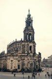 Dragningar av Dresden Turist- ställen Vardagsliv i Tyskland Royaltyfri Bild