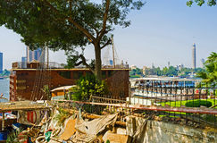 Dragningarna på Nile River Arkivfoto