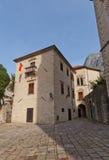 Drago宫殿在科托尔,黑山老镇  库存照片