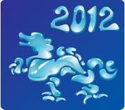 Drago 2012 di simbolo Immagini Stock