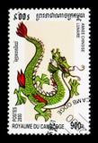 Drago, anno lunare cinese del serie del drago, circa 2000 Immagini Stock Libere da Diritti