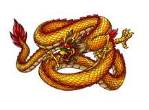 Drago antico cinese di stile Immagine Stock