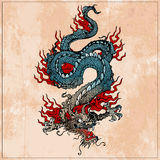 Drago asiatico tradizionale Immagini Stock