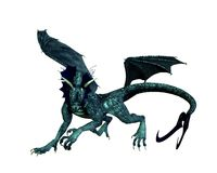 Drago blu-verde - 2 Immagini Stock