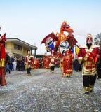 Drago cinese alcarnevale di Viareggio royaltyfria bilder
