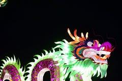 Drago cinese della luce del nuovo anno fotografia stock
