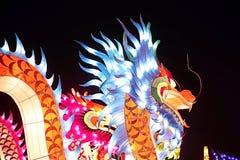 Drago cinese della luce del nuovo anno immagini stock