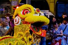 Drago cinese di dancing Fotografie Stock