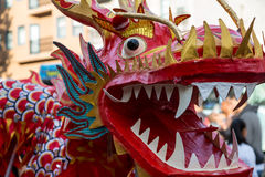 Drago cinese di nuovo anno Immagine Stock Libera da Diritti