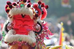 Drago cinese di parata di nuovo anno fotografia stock
