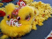 Drago cinese giallo Fotografie Stock Libere da Diritti