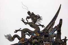 Drago cinese nero Fotografie Stock