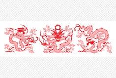 Drago cinese rosso illustrazione di stock