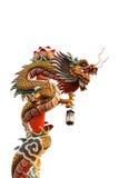 Drago cinese sul fondo dell'isolato Fotografia Stock