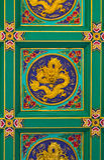 Drago cinese sul soffitto Immagine Stock