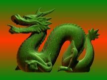 Drago cinese verde Fotografia Stock Libera da Diritti
