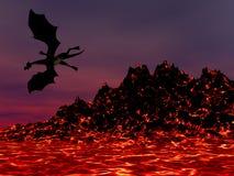 Dragão da noite Fotos de Stock Royalty Free
