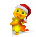 Drago del carattere di Natale con la rappresentazione del manifesto 3d Fotografia Stock