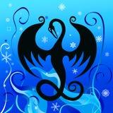 Drago del ghiaccio royalty illustrazione gratis