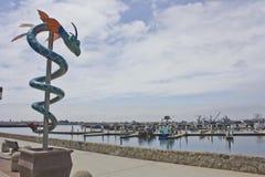 Drago del mare al villaggio del porto marittimo a San Diego, CA Fotografia Stock