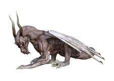 drago del vampiro di fantasia della rappresentazione 3D su bianco Immagini Stock Libere da Diritti