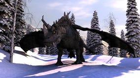 Drago della neve Immagine Stock