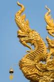 Drago della scultura a Wat Sri Pan Ton Immagini Stock