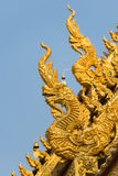 Drago della scultura a Wat Sri Pan Ton Immagine Stock