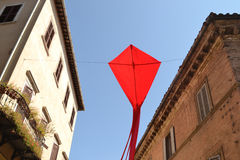 Drago di carta rosso Fotografie Stock