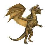 drago di fantasia della rappresentazione 3D su bianco Immagine Stock