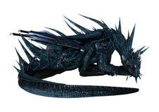 drago di fantasia della rappresentazione 3D su bianco Immagine Stock Libera da Diritti