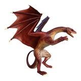 drago di fantasia della rappresentazione 3D su bianco Fotografia Stock