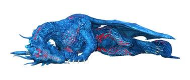 drago di fiaba della rappresentazione 3D su bianco illustrazione vettoriale