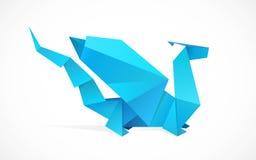 Drago di Origami Fotografie Stock Libere da Diritti