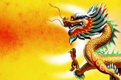 Drago di stile cinese Immagine Stock