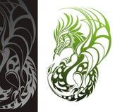 Drago. Disegno del tatuaggio illustrazione di stock