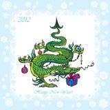 Drago divertente di simbolo 2012 Fotografia Stock Libera da Diritti