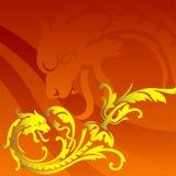 Drago dorato Fotografie Stock
