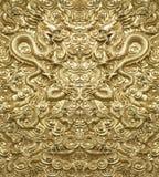 Drago dorato del fondo Fotografia Stock Libera da Diritti