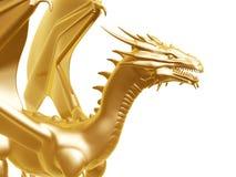 Drago dorato del fuoco Fotografie Stock