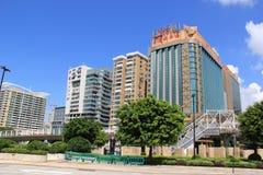 Drago dorato dell'hotel a Macao Fotografia Stock