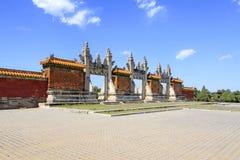 Drago e portone di Phoenix nelle tombe reali orientali del Qing D Fotografia Stock